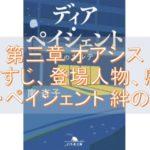 ディア・ペイシェント~絆のカルテ~ 文庫 第三章のあらすじ、登場人物、感想について!