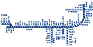 京阪本線(けいはんほんせん)とは、大阪の淀屋橋駅から京都の三条駅までを結ぶ鉄道路線